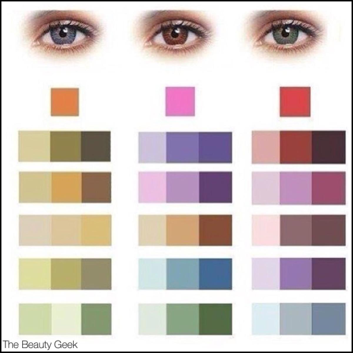 Голубые глаза палитра цветов фото
